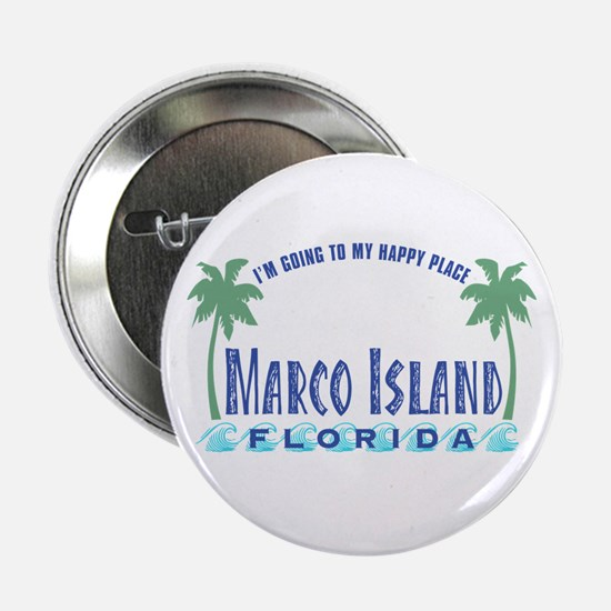 """Marco Island Happy Place - 2.25"""" Button"""
