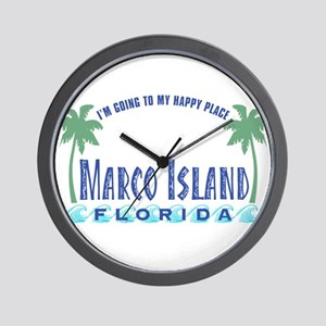 Marco Island Happy Place - Wall Clock