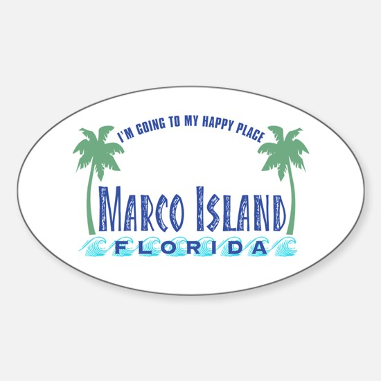 Marco Island Happy Place - Oval Decal