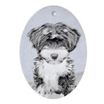 TIbetan Terrier Oval Ornament