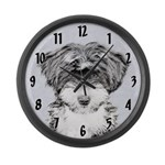 TIbetan Terrier Large Wall Clock