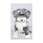 TIbetan Terrier Sticker (Rectangle)