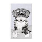 TIbetan Terrier Sticker (Rectangle 50 pk)