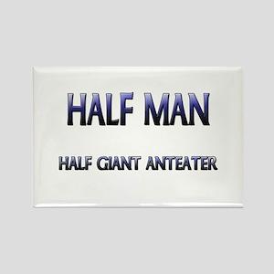 Half Man Half Giant Anteater Rectangle Magnet