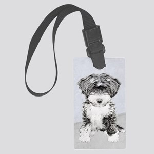 TIbetan Terrier Large Luggage Tag