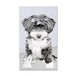 TIbetan Terrier Rectangle Car Magnet