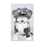 TIbetan Terrier 20x12 Wall Decal