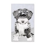 TIbetan Terrier 35x21 Wall Decal
