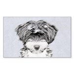 TIbetan Terrier Sticker (Rectangle)