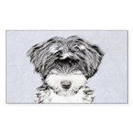 TIbetan Terrier Sticker (Rectangle 10 pk)