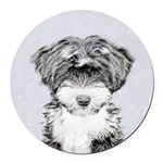 TIbetan Terrier Round Car Magnet