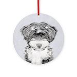 TIbetan Terrier Round Ornament