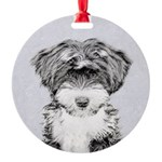 TIbetan Terrier Round Ornament