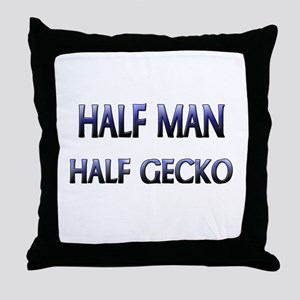 Half Man Half Gecko Throw Pillow