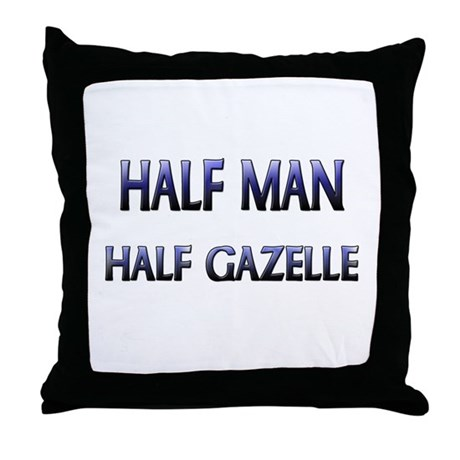 Half Man Half Gazelle Throw Pillow