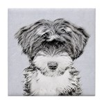 TIbetan Terrier Tile Coaster