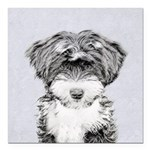 TIbetan Terrier Square Car Magnet 3