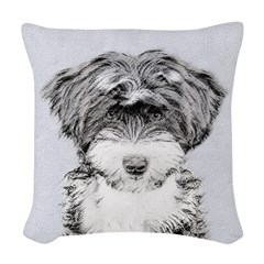 TIbetan Terrier Woven Throw Pillow