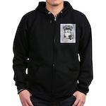 TIbetan Terrier Zip Hoodie (dark)