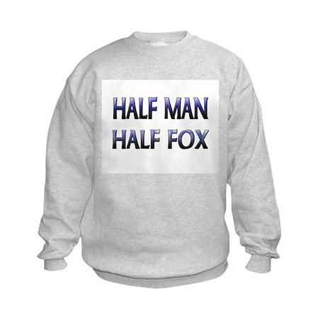 Half Man Half Fox Kids Sweatshirt