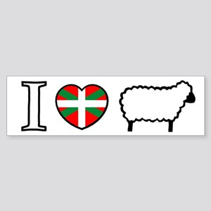 I <heart> Sheep Bumper Sticker