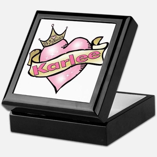 Personalized Princess Karlee Keepsake Box