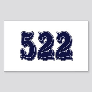 522 Rectangle Sticker