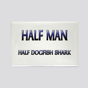 Half Man Half Dogfish Shark Rectangle Magnet