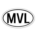 MVL Oval Sticker