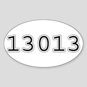13013 Oval Sticker