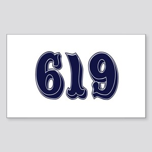 619 Rectangle Sticker