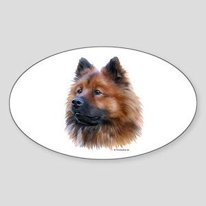 Eurasier Oval Sticker