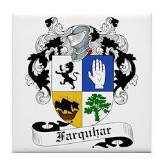 Farquhar Family Crest Tile Coaster