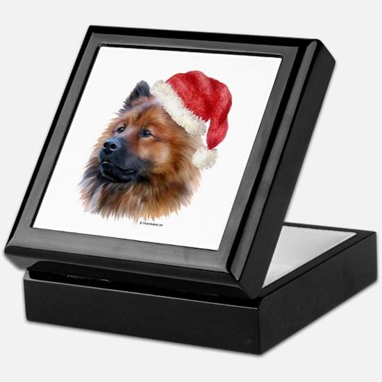 Christmas Eurasier Keepsake Box
