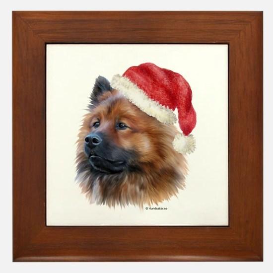 Christmas Eurasier Framed Tile
