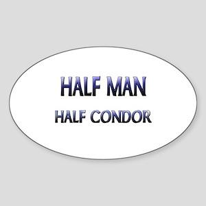 Half Man Half Condor Oval Sticker