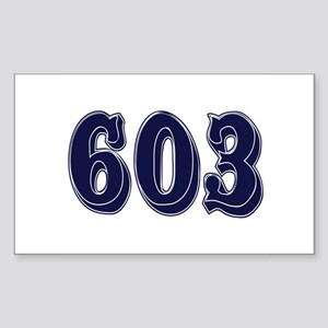 603 Rectangle Sticker