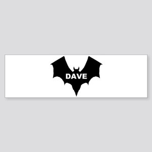BLACK BAT DAVE Bumper Sticker