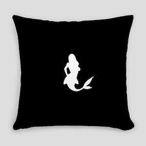 Mermaid (Black) Everyday Pillow