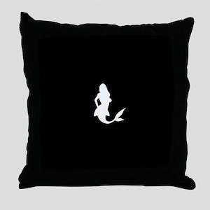 Mermaid (Black) Throw Pillow