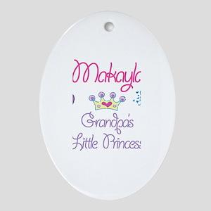 Grandpa's Princess Makayla Oval Ornament