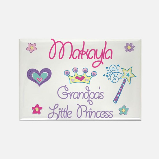 Grandpa's Princess Makayla Rectangle Magnet