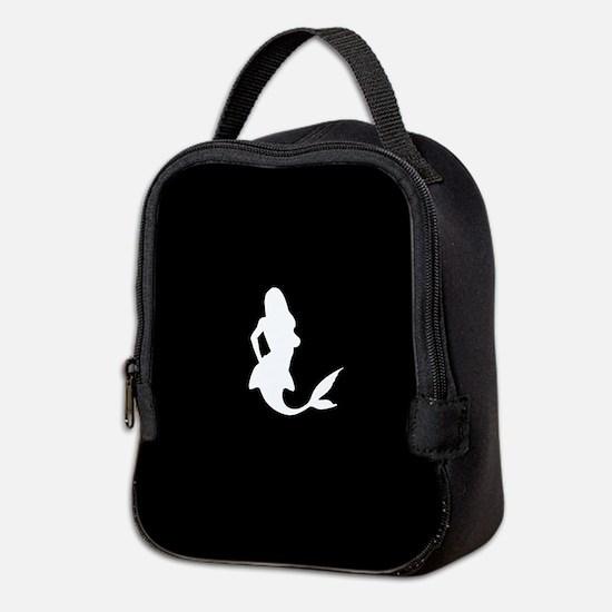 Mermaid (Black) Neoprene Lunch Bag