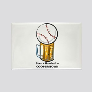 Baseball and Beer Magnets