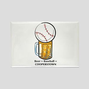 Baseball and Beer Magnets