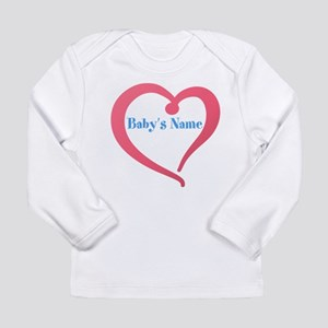 Heart with Babys Name Long Sleeve T-Shirt