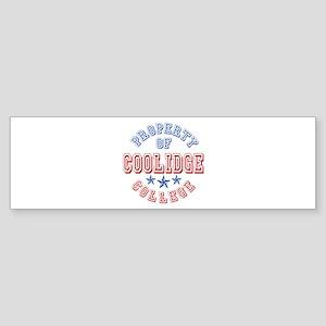 Coolidge College Property Of Bumper Sticker