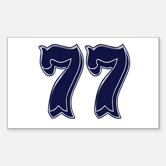 77 Rectangle Decal