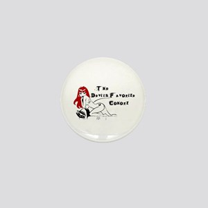 Red Haired Tattooed Angel Mini Button