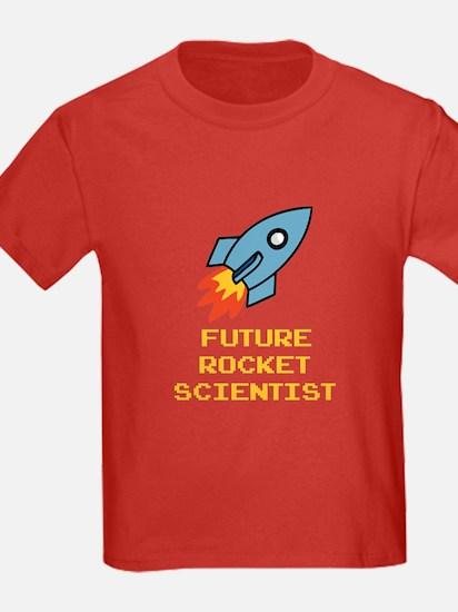 Future Rocket Scientist Kids Red T-Shirt
